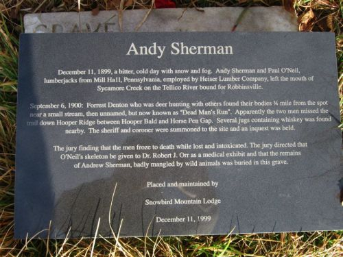 Andy Sherman stone NC TN state line